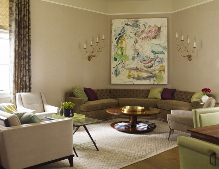 Corner Designs For Living Room Unique Greentuftedcurvedcornersofa  Corner Space Arrange Furniture Design Decoration