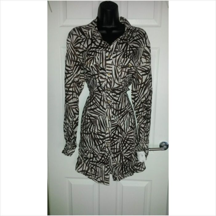 Designer BNWT JAMES LAKELAND Ladies Smart Casual Button Fasten Top Blouse Dress