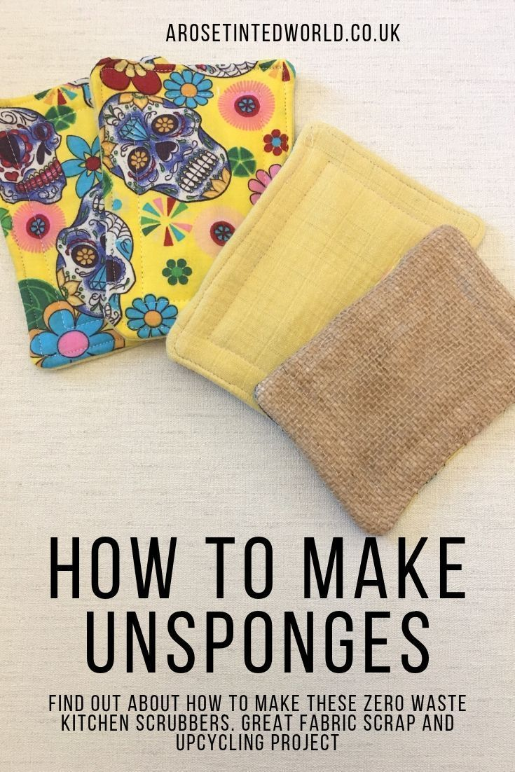 How To Make Unsponges Zero Waste Dish Scrubbers In 2020