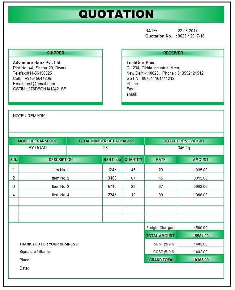 quotation template doc, quotation template pdf, quotation template