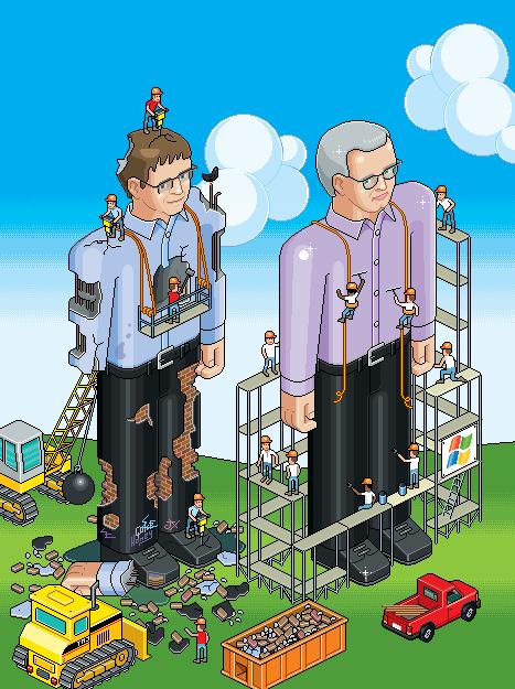 Bill Gates Pixelillustration Isometric Birdview Pixelcity Quickhoney Illustration Pixel City Pixel Illustration