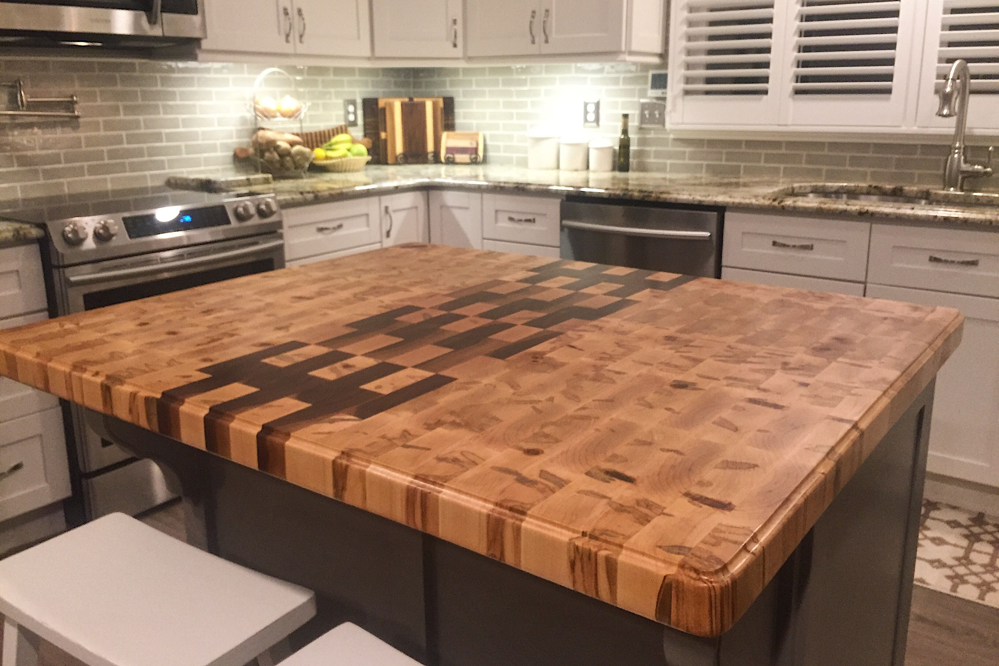 Custom 2 X3 Kitchen Island Top End Grain Construction Using