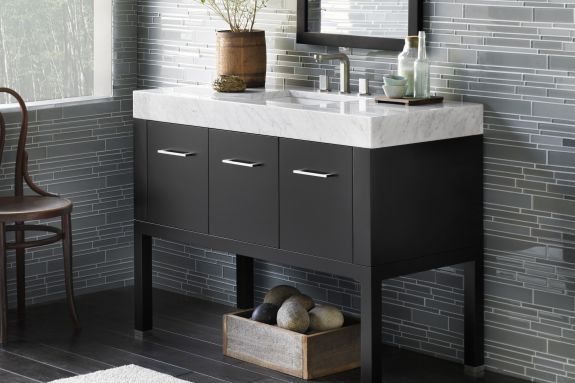 Pin By Kitchen Kraft Inc On Bathroom Vanity Cabinets Bathroom