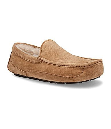 1afacaec9ac My hubby loves his new houseshoes! UGG Australia Mens Ascot Suede Slippers   Dillards