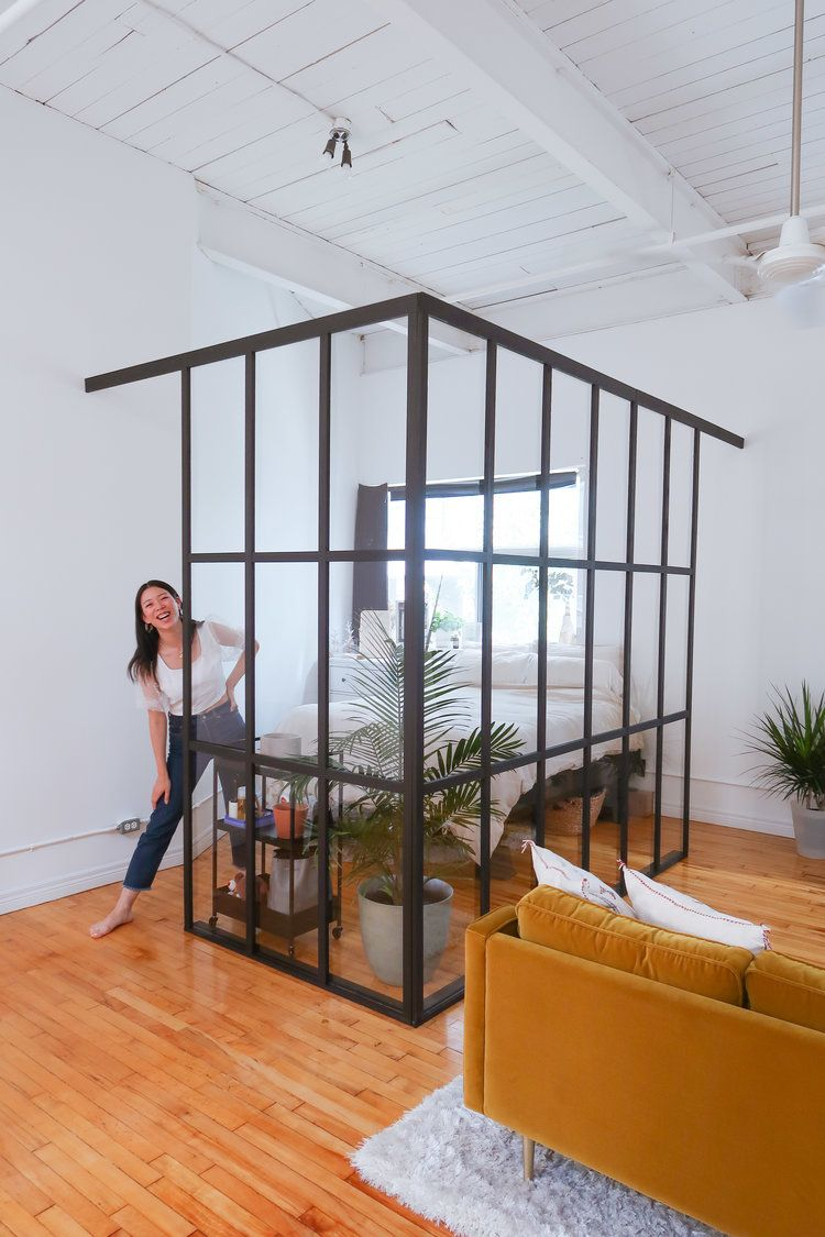 DIY Industrial Glass Wall!