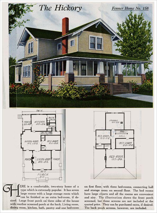 1921 Fenner Kit Home Eclectic Classic With Bungalow Elements Farmhouse Plans Farmhouse Floor Plans Craftsman House