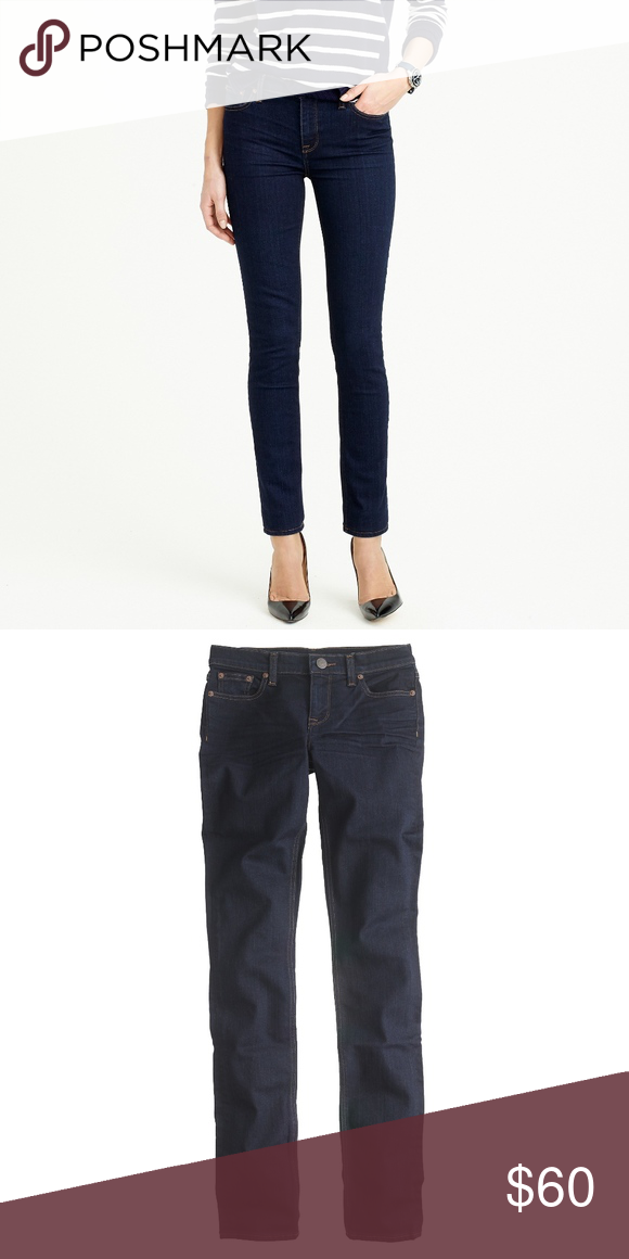 e054eb5c164 J. Crew Reid Jean In Classic Rinse SIZE & FIT Sits above hip. High rise.  Fitted through hip and thigh, with a slim, straight leg. Front rise: 9 1/4