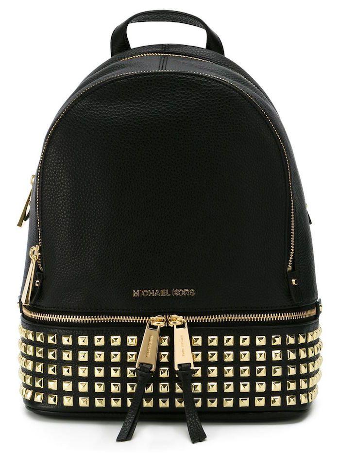 Elle Québec | Studded backpack, Studded bag, Michael kors