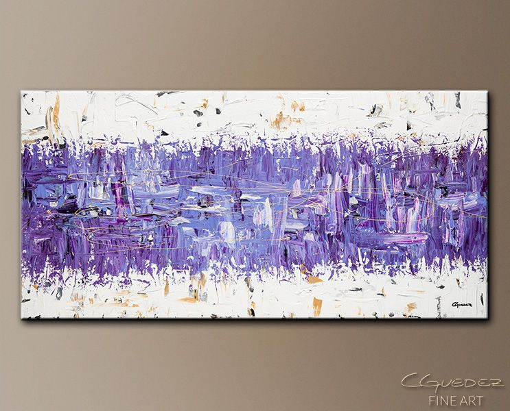 Art Abstract Wall PaintingsPurple Story Modern Interior