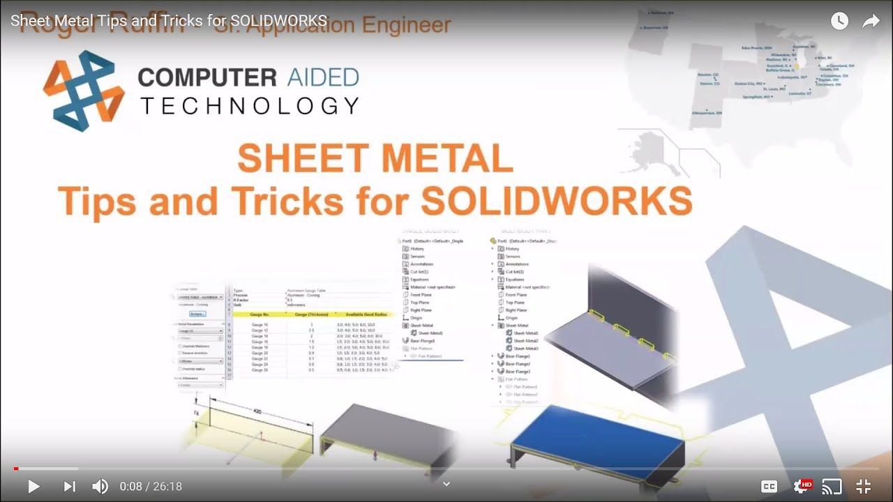 Sheet Metal Tips And Tricks For Solidworks Solidworks Sheet Metal Tips