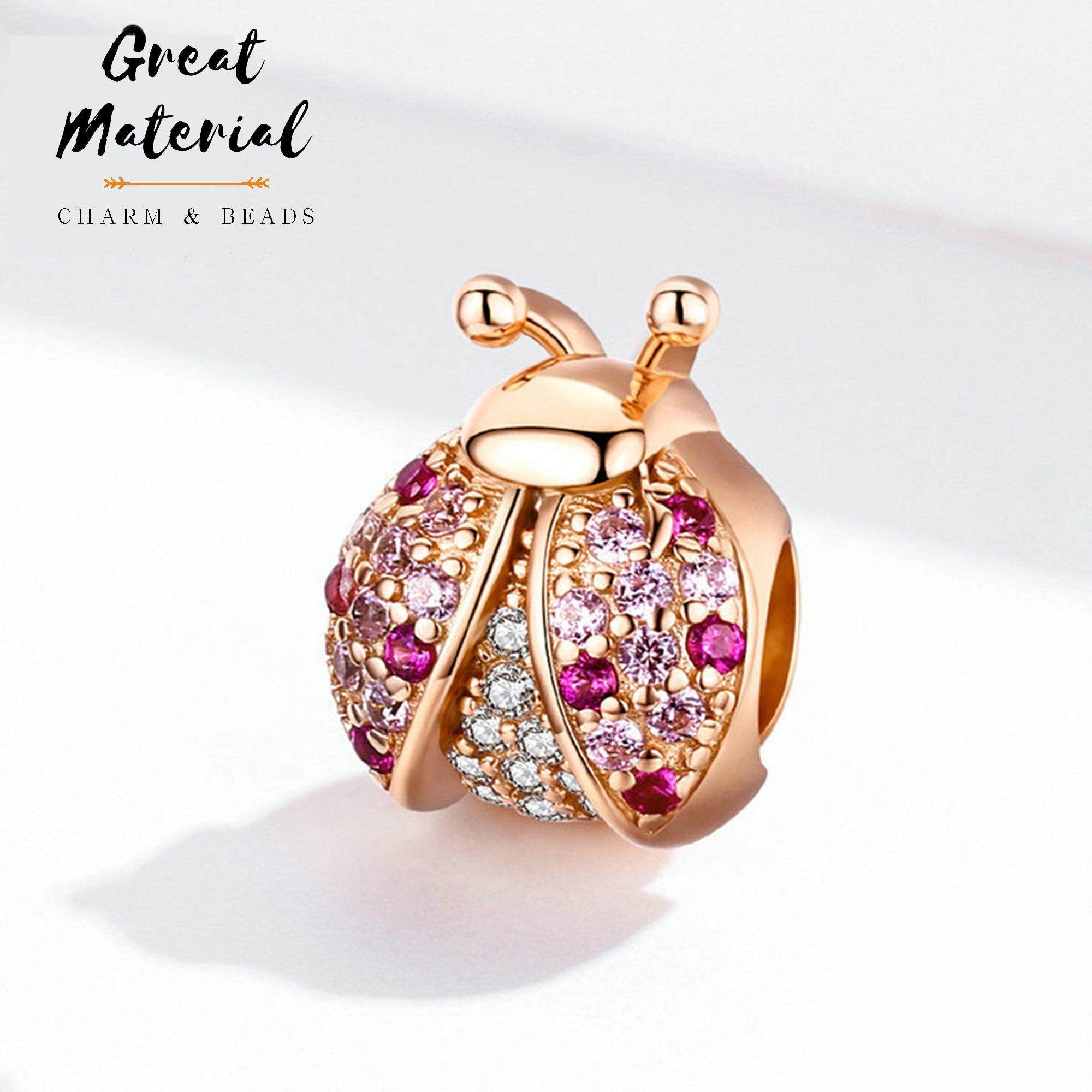 Rose Gold Ladybug Charm Fit Pandora Disney Bracelet Pandora   Etsy ...