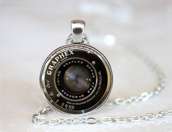 Vintage camera lens collar c mara colgante c mara for Regalo camera