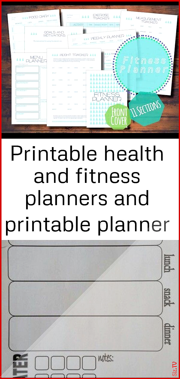 Printable health and fitness planners and printable planner stickers 2 imthirsty Modern Geometric Pr...