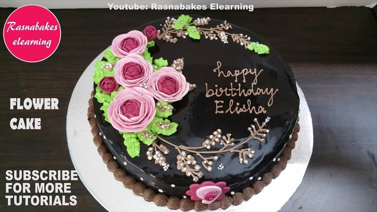 Edible Flower Power Sugar Ranunculus Chocolate Birthday Cake Design Idea Chocolate Cake Designs Birthday Cake Chocolate Easy Chocolate Cake
