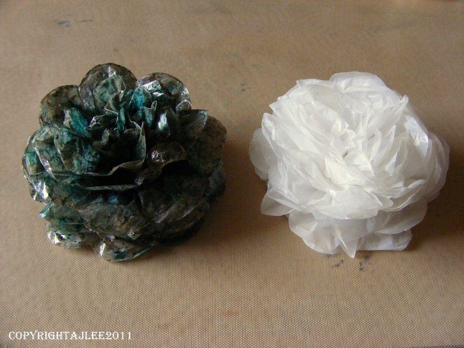 Plastic Bag Flowers Plastic Bag Crafts Floral Craft Recycled