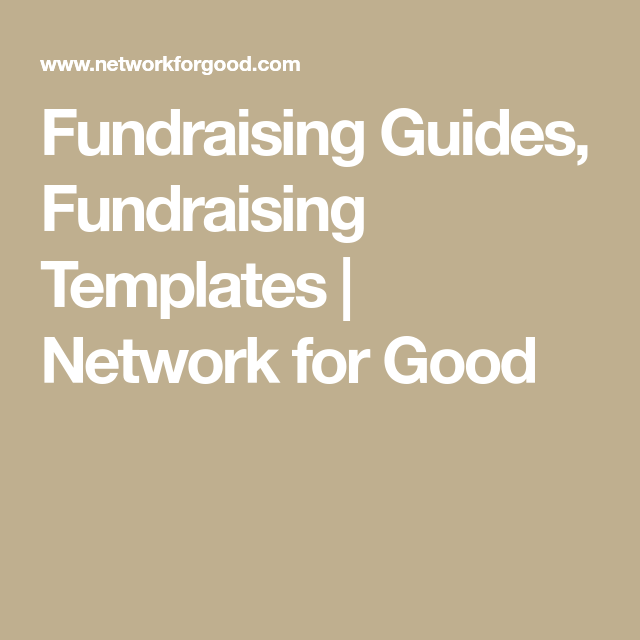 Fundraiser Template Free Unique Fundraising Guides Fundraising Templates  Network For Good .