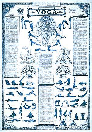 "dharma mittra's beginner/intermediate ""yoga "" course chart"