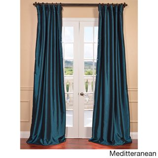 Faux Silk Taffeta Solid Blackout Curtain Panel Com Ping Great Deals On