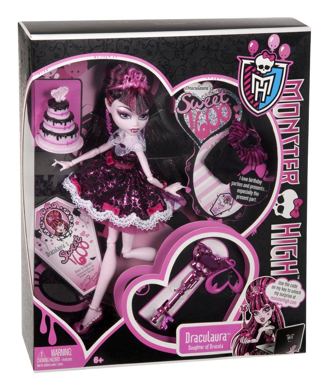Monster High Sweet 1600 Draculaura Doll  Sweet 1600  Pinterest