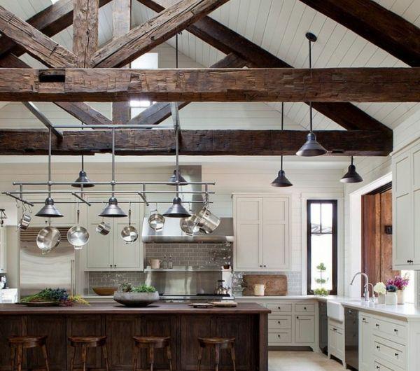 La poutre en bois dans 50 photos magnifiques lofts for Poutre bois decorative
