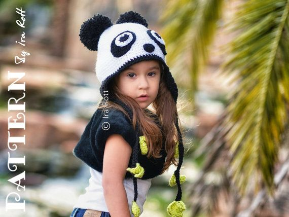 7a979ddfc31 Panda Hat Crochet PDF Pattern for babies crochet animal hat pattern