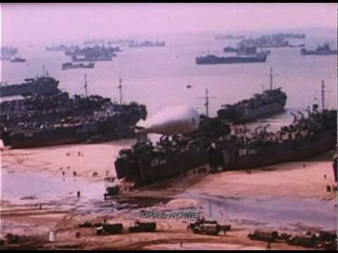 ▶ 1944 D-day in Color! New Outstanding Footage 3 of 3 - YouTube