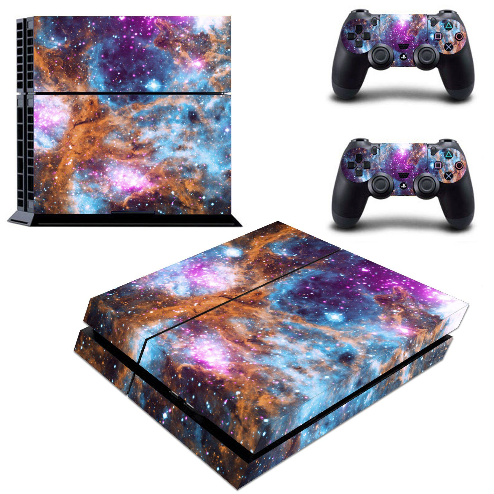 Cosmic Nebular Galaxy Ps4 Slim Console Skin Vinyl Stickers Decals Covers Wrap Video Games & Consoles