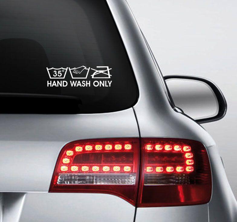 FUN STICKER HAND WASH ONLY DECAL CAR X INCHES JDM STICKER - Vinyl decals car wash
