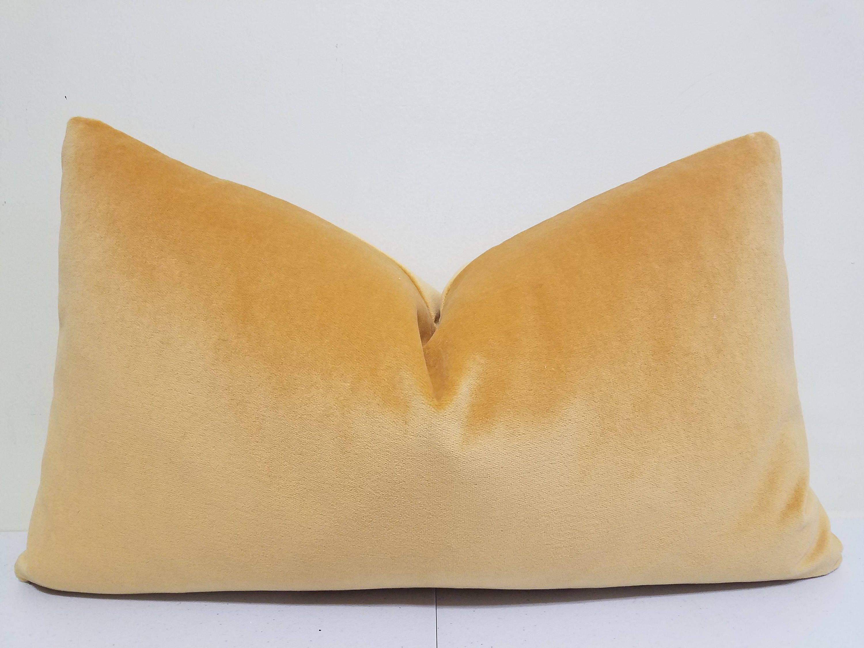 Etsy Yellow Throw Pillow : Gold Yellow Velvet Lumbar Pillow Cover -velvet Lumbar - Decorative throw pillow - Gold Velvet ...