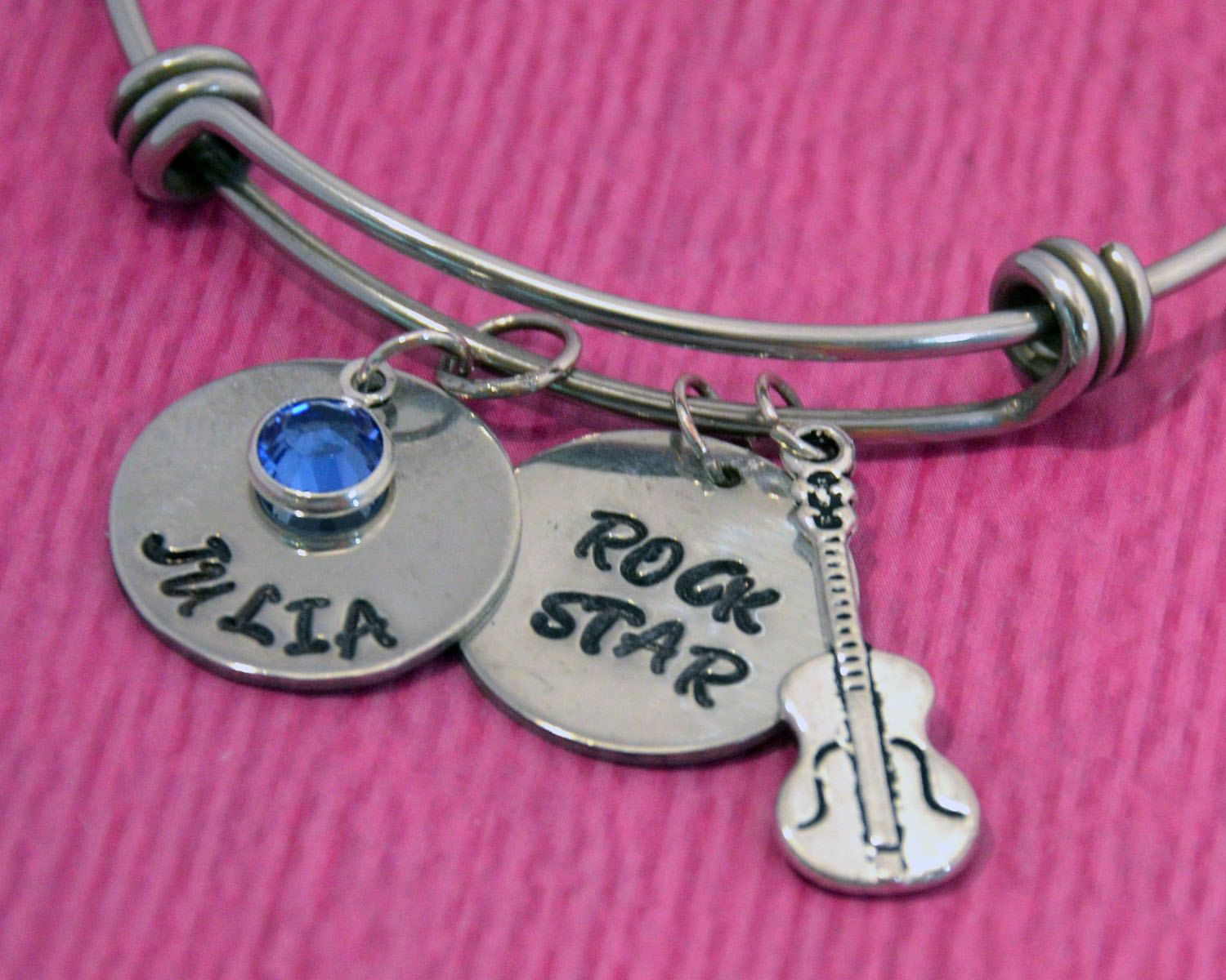Guitar Bracelet | Guitar Jewelry | Gift for Guitarist | Personalized ...