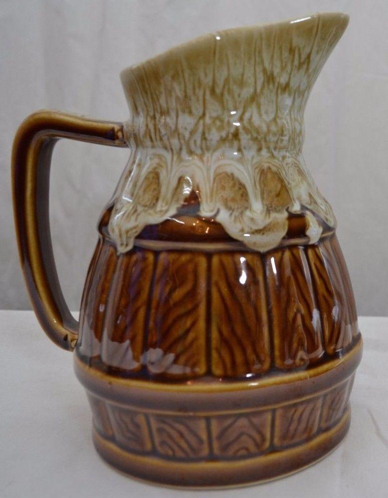 Gorgrous Vtg Drip Glaze Pitcher from Obernai Alsace France 1980 P.65 10D