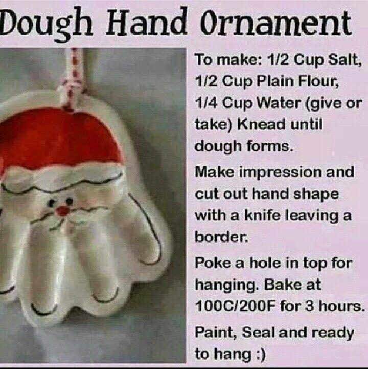 Dough Hand Ornaments
