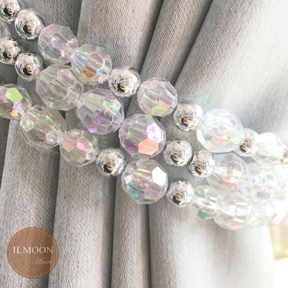 Pair X2 Luxury Mininal Crystal Curtain Tie Backs Crystal