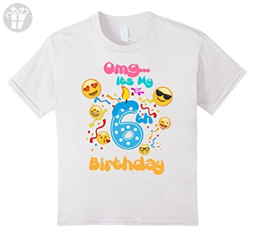 Kids Emoji T Shirt For 6 Year Old Awesome Birthday 8 White