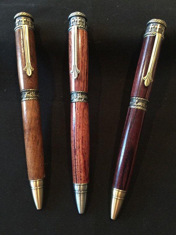 Handmade Faith, Hope and Love pens