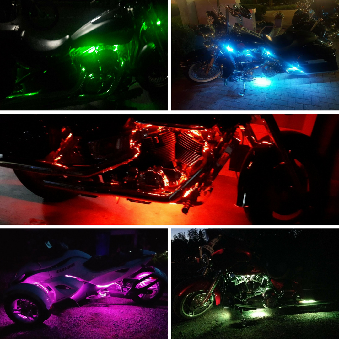 Led strip lights for harley motorcycles harley led lights led strip lights for harley motorcycles mozeypictures Gallery