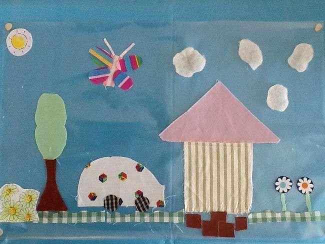 Collage Bambini ~ Collage da fare con la stoffa per bambini collage per bambini