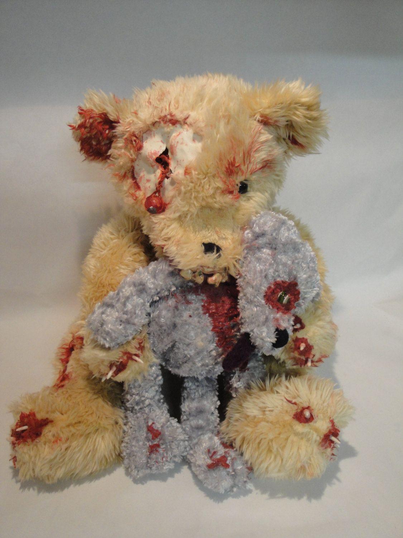 "Bearly Zombie ""The Eye Has It"" Teddy Bear Zombie by TheDarkerMoon on Etsy"