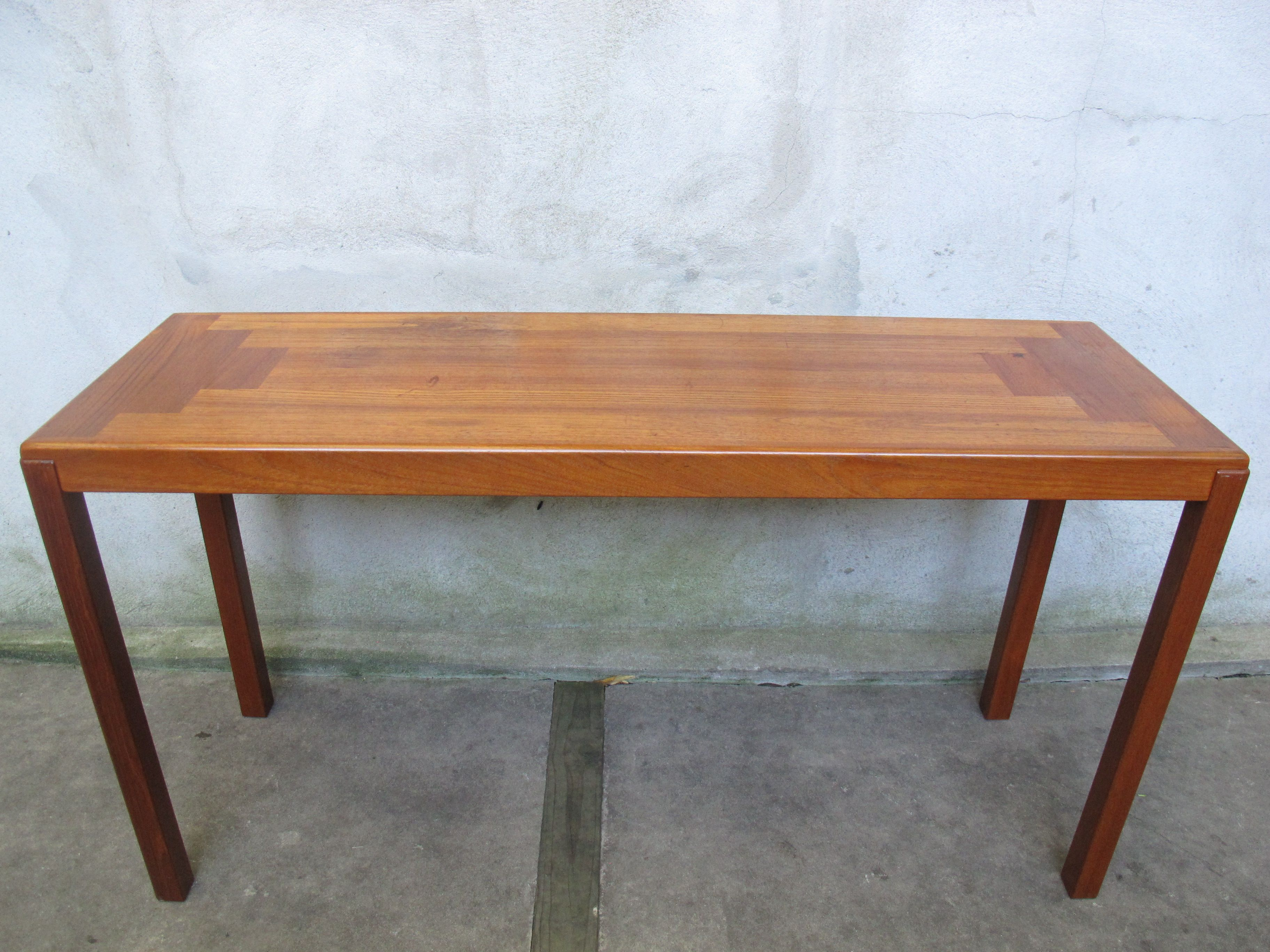 Danish modern teak console table by vejle stole sold items danish modern teak console table by vejle stole geotapseo Image collections