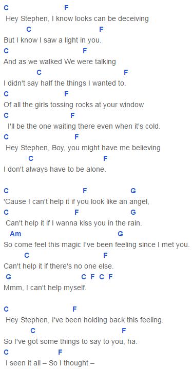 Hey Stephen Chords Capo 6 Taylor Swift | Ukulele | Pinterest ...