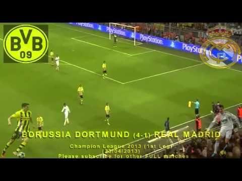 Full 1st Leg Borussia Dortmund Vs Real Madrid 4 1 23 04 2013