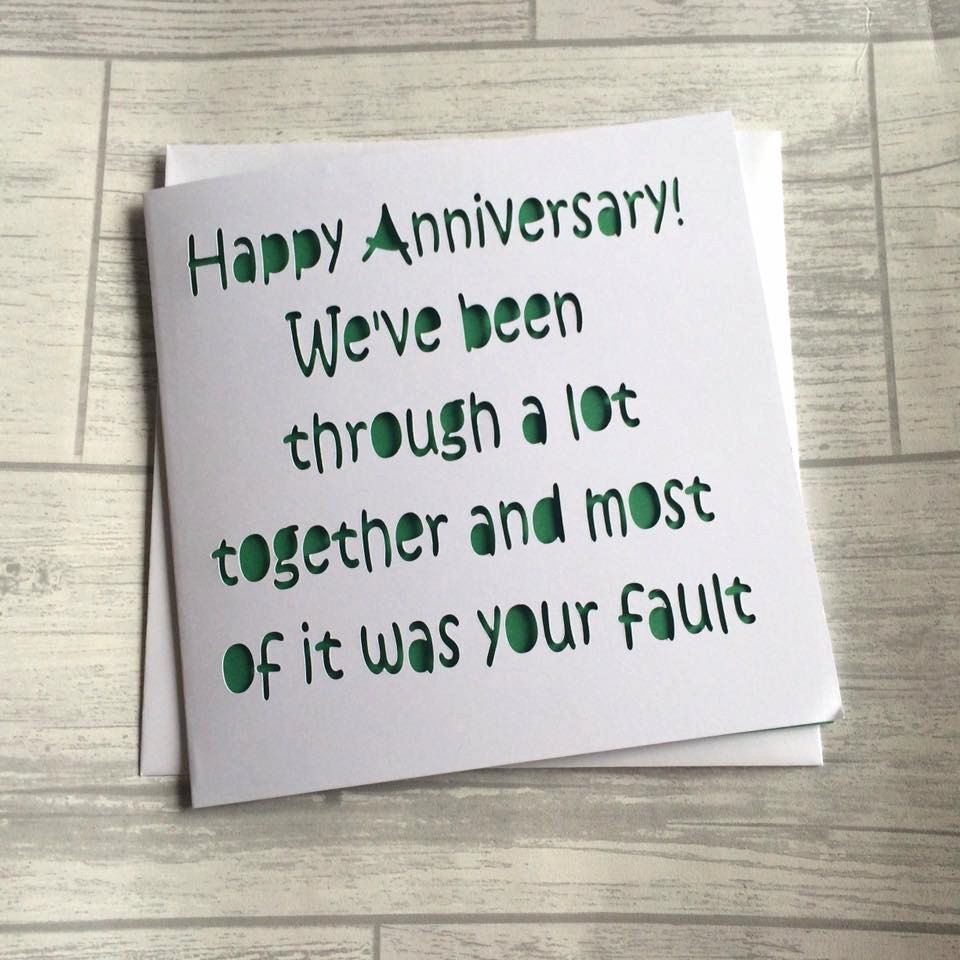 Husband Anniversary Quotes Funny: Anniversary Card, Card For Anniversary, Happy Anniversary