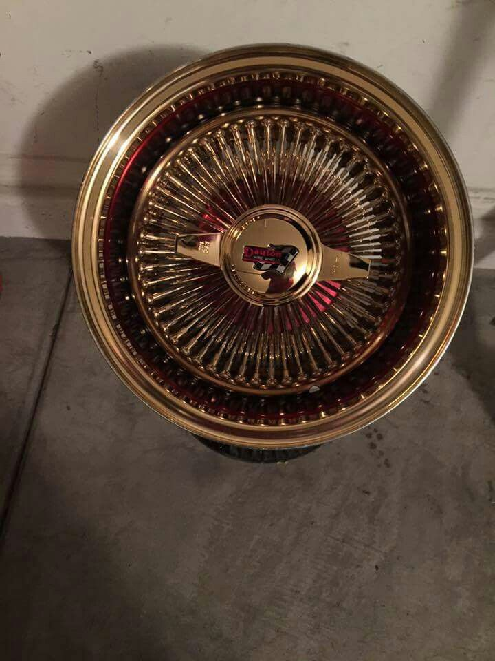 Triple Gold Straight Lace Daytons Alloy Wheel Wire Wheel Rims