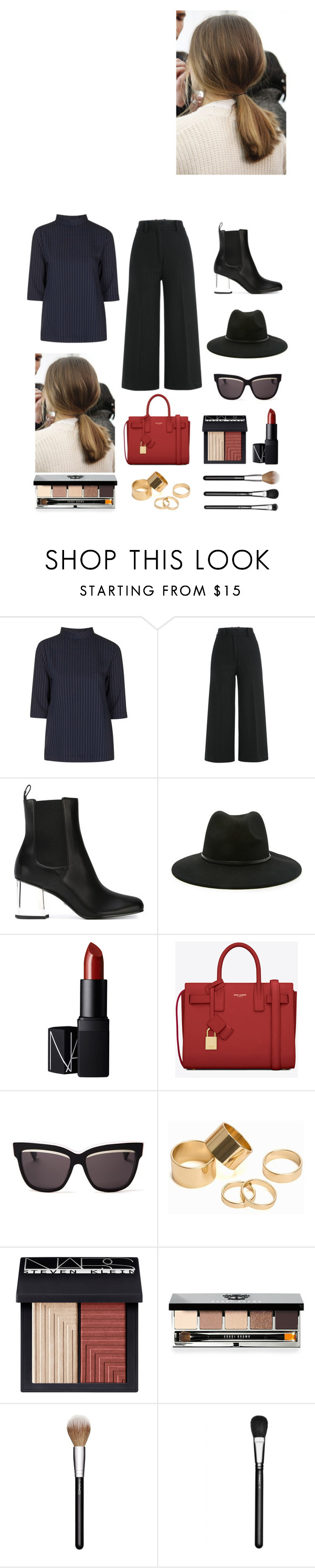 """""""Simple,sleek, & chic"""" by micalkalimi on Polyvore featuring Topshop, Jil Sander, Gucci, Forever 21, NARS Cosmetics, Yves Saint Laurent, Christian Dior, Pieces, Bobbi Brown Cosmetics and MAC Cosmetics"""