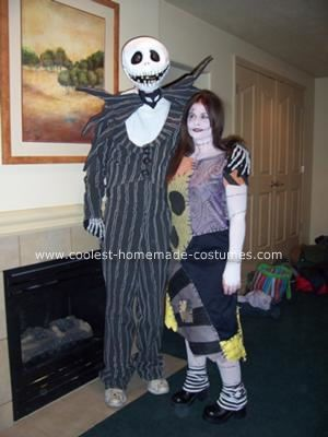 homemade jack skellington and sally halloween costumes - Halloween Jack Costume
