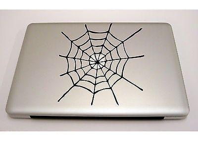 MACBOOK IPAD LAPTOP VINYL STICKER DECAL CUSTOM SIZE SPIDER WEB - Custom vinyl stickers macbook