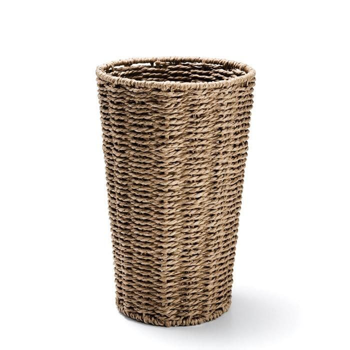 Narrow, Woven Basket Perfect For Small Spaces.FEATURES