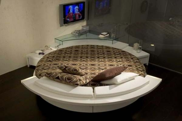 built in round corner bed | ufo unique bed Fashionable Round Beds