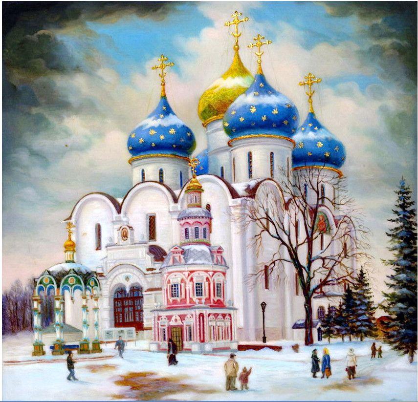 Рисунки карандашом, открытки с храмами церквями