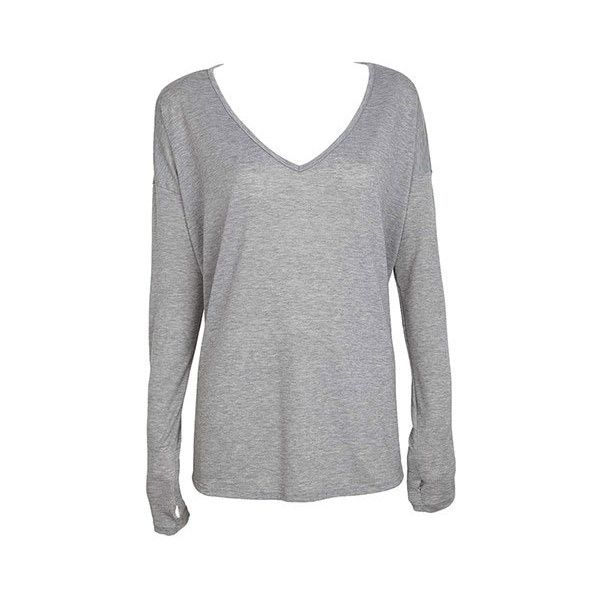 Heather Gray V Neck T Shirt